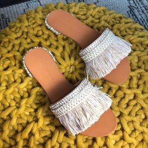 Badgley Mischka Sharlene wedding slippers ivory